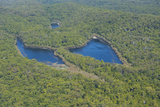 Aerial of the Butterfly Lakes  Fraser Island  UNESCO World Heritage Site  Queensland  Australia