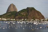 View of the Pao de Acucar (Sugar Loaf Mountain) and the Bay of Botafogo  Rio de Janeiro  Brazil