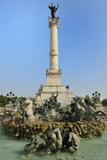 Fontaine Des Quinconces  Monument Aux Girondins  Bordeaux  UNESCO Site  Gironde  Aquitaine  France