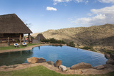 Infinity Pool and View from Borana Luxury Safari Lodge  Laikipia  Kenya  East Africa  Africa