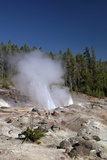 Minor Eruption from Steamboat Geyser  Yellowstone Nat'l Pk  UNESCO Site  Wyoming  USA