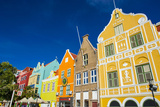 The Colourful Dutch Houses at Sint Annabaai  UNESCO Site  Curacao  ABC Island  Netherlands Antilles