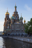 The Church on Spilled Blood  UNESCO Site  on the Kanal Griboedova  St Petersburg  Russia