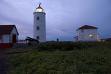 Lighthouse of L'Ile Verte (Green Island)  Estuary of St Lawrence River  Quebec Province  Canada