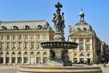 Three Graces Fountain  Place de la Bourse  Bordeaux  UNESCO Site  Gironde  Aquitaine  France