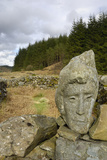 Stone Sculpture Called Quorum  Black Loch  Galloway Forest  Dumfries and Galloway  Scotland  UK