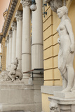 Statues and Decorations around Entrance of Szechenyi Baths  City Park  Budapest  Hungary  Europe