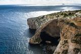 The Landscape around the Blue Grotto  Malta  Mediterranean  Europe