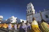 Women Dancing in Festival in Plaza 25 de Mayo  Sucre  UNESCO World Heritage Site  Bolivia