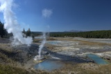 Fumaroles (Steam Vents) in Porcelain Basin  Yellowstone Nat'l Pk  UNESCO Site  USA