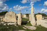 Prehistoric Temple of Haqar Qim  UNESCO World Heritage Site  Malta  Europe