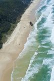 Aerial of the 75 Mile Beach and Mahona Ii Shipwreck  Fraser Is  UNESCO Site  Queensland  Australia