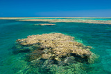 Aerial of the Great Barrier Reef UNESCO World Heritage Site  Queensland  Australia  Pacific
