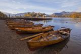 Rowing Boats at Lakeside Landing  Derwentwater  Keswick  Lake District Nat'l Pk  Cumbria  UK