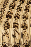 Detail of Sculptures on Arch of the Western Facade  Notre Dame Cathedral  Paris  France  Europe