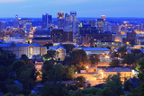 Birmingham Skyline at Twilight  Birmingham  Alabama  United States of America  North America