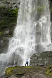 Steinsdalsfossen Waterfall  Near Norheimsund  Hordaland  Norway  Scandinavia  Europe