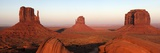 Panoramic Photo of the Mittens at Dusk  Monument Valley Navajo Tribal Park  Utah  USA