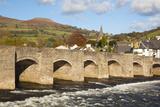 Bridge over River Usk  Crickhowell  Powys  Wales  United Kingdom  Europe