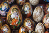 Painted Religious Eggs for Sale  St Petersburg  Russia  Europe