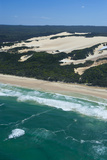 Aerial of the Seventy-Five Mile Beach  Fraser Island  UNESCO Site  Queensland  Australia