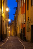 Narrow Street at Dusk  Gamla Stan  Stockholm  Sweden  Scandinavia  Europe