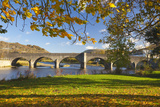 River Wye and Bridge  Builth Wells  Powys  Wales  United Kingdom  Europe