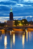 The City Hall at Night  Kungsholmen  Stockholm  Sweden  Scandinavia  Europe
