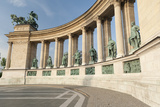 Statues of Hungarian Historical Leaders  Millennium Monument  Hosok Tere  Budapest  Hungary