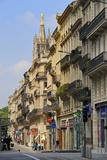 Cours d'Alsace Et Lorraine with Tour Pey-Berland  Bordeaux  UNESCO Site  Gironde  Aquitaine  France