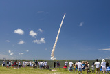 Crowds Watch Launch of Space Shuttle Discovery  July 4  2006  Cape Canaveral  Florida  USA