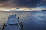 Pier on Isla del Sol (Island of the Sun) at Dawn  Lake Titicaca  Bolivia  South America