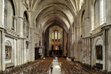 Interior of Cathedrale Saint Andre (St Andrews Cathedral)  Bordeaux  UNESCO Site  Gironde  France