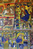 Murals in Christian Monastery and Church of Azuwa Maryam  Zege Peninsula  Lake Tana  Ethiopia