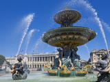 Fountains in the Place de la Concorde  Paris  France  Europe