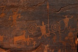 Horned Anthropomorphs Holding Shields  Utah Scenic Byway 279  Potash Road  Moab  Utah  USA