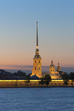 St Peter and Paul Cathedral and the River Neva at Night  St Petersburg  Russia  Europe