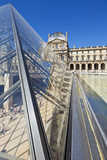The Louvre Art Gallery  Museum and Louvre Pyramid (Pyramide Du Louvre)  Paris  France  Europe