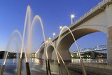 Ross's Landing Fountain and Market Street Bridge  Chattanooga  Tennessee  United States of America