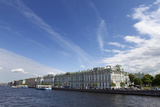 The Winter Palace and Hermitage  UNESCO Site  Along the River Neva  St Petersburg  Russia
