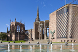 Coventry Old Cathedral Shell and New Modern Cathedral  Coventry  West Midlands  England  UK
