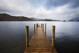 Landing Stage on Derwentwater  Lake District National Park  Cumbria  England  United Kingdom