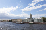 The River Neva and Kunstkammer Building  St Petersburg  Russia  Europe
