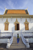 Woman at Silver Pagoda in Royal Palace  Phnom Penh  Cambodia  Indochina  Southeast Asia  Asia