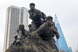 Statue Showing War for Independence  Pyongyang  Democratic People's Republic of Korea  N Korea