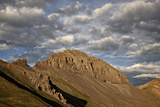 Jagged Ridge with Puffy Clouds  Rio Grande National Forest  Colorado  United States of America