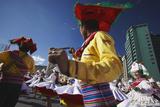 Dancers Performing in Entrada Universitaria (University Entrance) Festival  La Paz  Bolivia