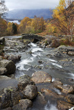 Ashness Bridge in Autumn Near Keswick  Lake District National Park  Cumbria  England  UK