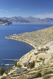 View of Inca Ruins of Pilko Kaina on Isla del Sol (Island of the Sun)  Lake Titicaca  Bolivia