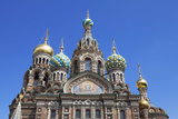The Decorative Domes of the Church on Spilled Blood  UNESCO Site  St Petersburg  Russia
